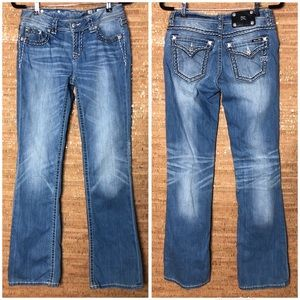 Miss Me Relaxed Bootcut Jeans Sz 28 Cotton Stretch